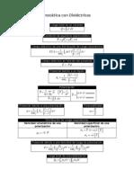 Tema 4. Formulas Electrostática Dieléctricos