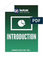 Kotak Securities - Fundamental Analysis Book 1 - Introduction