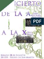 "CONCIERTO DE LA A A LA X - CORO ""ÁNGEL BARJA"" JJMM-ULE Y CORO XENAKIS - 28.06.14"