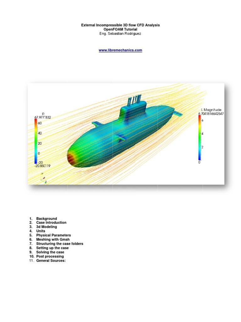 External Incompressible 3D CFD Analysis OpenFOAM Tutorial