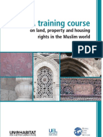 A Training Course on Land, Property and Housing Rights in the Muslim World
