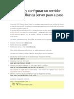 Instalar y Configurar Un Servidor DNS Con Ubuntu Server