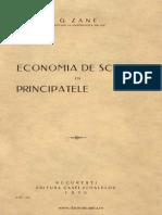 Economia de Schimb in Principatele Romane Zane 1930