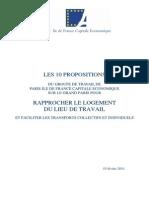PIDFCE - Propositions Pour Rapprocher Le Logement Du Travail