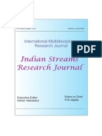 International Multidisciplinary Research Journal Indian Streams Research Journal