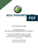 Fin Int AltriPrg UE Ambiente Bando Ecoinnovation 2009