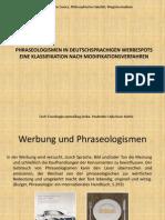 Phraseologismen in Deutschsprachigen Werbespots Pres