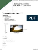 (Ue40f6400aw - Especificaciones Técnicas _ Atención Al Cliente _ Samsung)