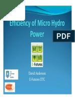 Efficiency of Micro- Power