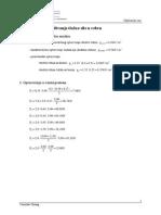 Usporedba Uzdužnih Sila u Rebru Pomoću Različitih Načina Proračuna