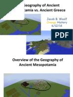 jbwoolf geography of mesop vs  greece