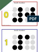 Alfabetul Braille Cifre