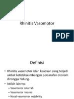 Rhinitis Vasomotor