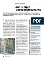 Effective and Simple Condition Based Maintenance