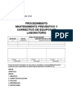 P_lb_01_mantenimiento Preventivo y Correctivo de Equipos de Laboratorio