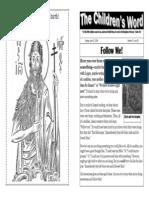 Children's Word bulletin for Sunday, June 22, 2014