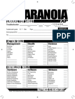 Paranoia XP - Character Sheet