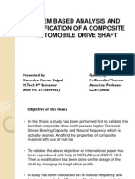 A FEM BASED ANALYSIS AND MODIFICATION OF A COMPOSITE AUTOMOBILE DRIVE SHAFT