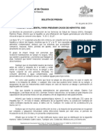 16/06/14 Higiene Fundamental Para Prevenir Casos de Hepatitis Sso