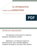 Relational optimization and consideration
