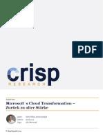 Microsoft´s Cloud Transformation – Zurück zu alter Stärke