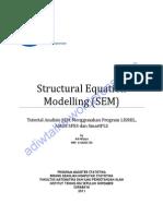 82629606 Tutorial Analisis SEM Menggunakan Program LISREL AMOS SPSS Dan SmartPLS Libre