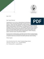 Student Letter - Standard I