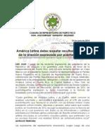 América Latina debe acatar apoyo a Estadidad para PR