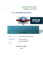 Plan de Proyecto San Luis Gonzaga