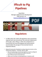Pipeline Integrity and Difficult to Pig Pipelines