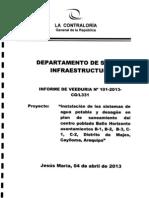 Veeduría - Obras de Agua Potable y Desagüe - Distrito de Majes - Arequipa