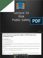 Lecture 10 - Risk&PublicSafety