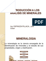 001 Introducción a Los Análisis de Minerales