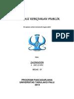 Evaluasi Kebijakan Publik