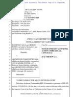 Vagle v Archstone Communities ASN Warner Center Archstone Long Beach Civil Removal.pdf