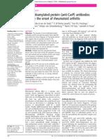 23. Anti-CarP Precede the Onset of Rheumatoid Arthritis