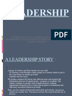 On the Basis of Managerial Grid Identify the Leadership Style