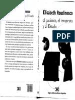 Elisabeth Roudinesco. El Paciente, El Terapeuta y El Estado
