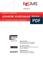 Junior Euromat JE2010 Programme