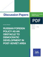 Russian Foreign Policy as an Obstacle to Democratic Development in Post-Soviet Area