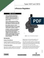 1301 Series High-Pressure Regulators