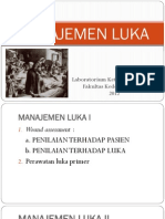 Pengantar Skill Labs Topik Managemen Luka - Jarot Subandono Dr., M.kes