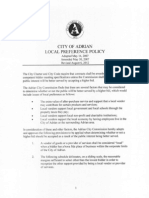 City of Adrian Local Preference Policy