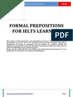 Formal Prepositions for IELTS Learners - by MrBi