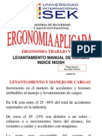 Levantamiento Manual Niosh - Insht Vii - 03 - 2010