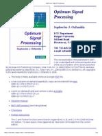 Optimum Signal Processing