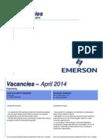 Vacancies 3 Aprilie 2014