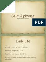 Saint Alphonsa PPT