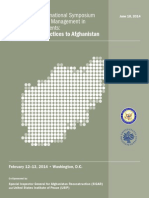 Applying Best Practices to Afghanistan USIP SIGAR SymposiumReport