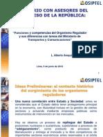 1Funciones y Competencias Del Organismo Regulador y Sus Diferencias Con Tareas Del Ministerio de Transportes y Comunicaciones-AlbertoArequipeno